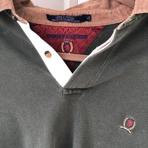 Tommy Hilfiger Shirts - Old school Olive green Tommy Hilfiger long sleeve